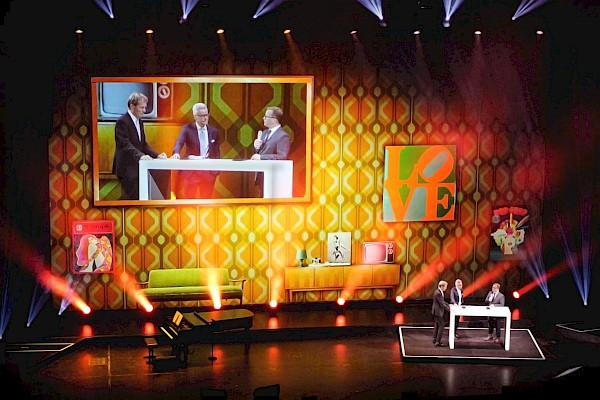 Jubiläumsfeier Baden-Baden im Festspielhaus mit Großbild-Videoprojektion und Live-Bild