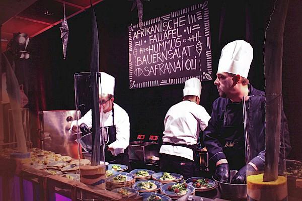 Catering für Galaevent mit Sternekoch Nelson Müller und PINK Event Service aus Karlsruhe