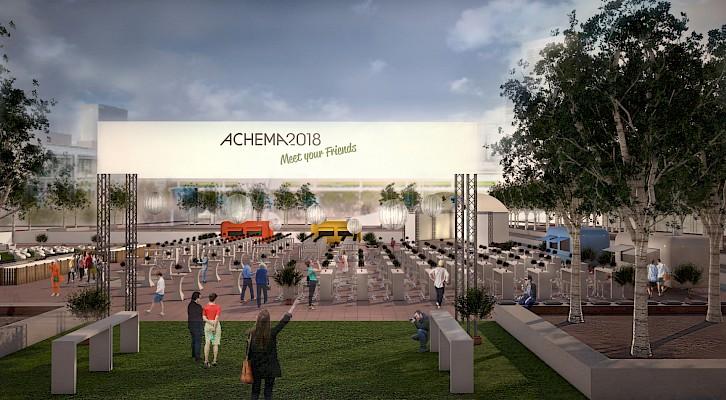 Eventkonzept für Ausstellerabend der ACHEMA 2018 in der Messe Frankfurt