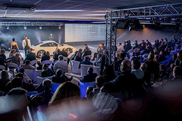 Premiere des neuen Porsche 911er in Karlsruhe - Eventkonzeption und Veranstaltungstechnik