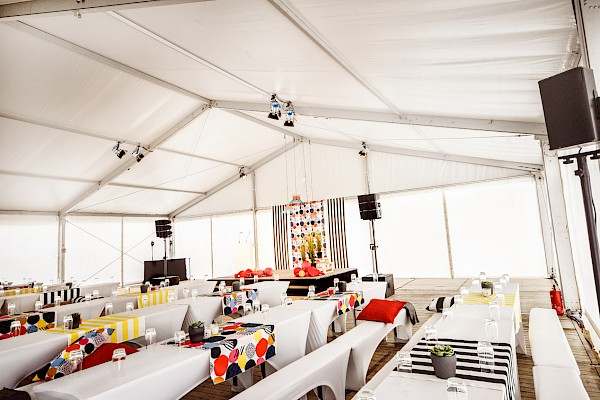 Veranstaltungstechnik und Eventmanagement für die Grundsteinlegung von IKEA in Karlsruhe durch PINK Event Service