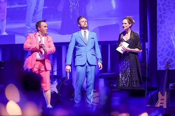 Moderatoren-Trio zum Triple-Jubiläum bei der Gala im CongressCentrum Pforzheim - PINK Event Service