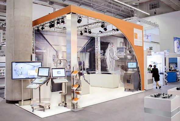 Nachher - Messebau Frankfurt mit Stand-Visualisierung zur Achema 2018