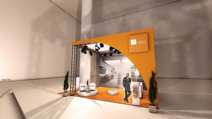 Messekonzeption und Standvisualisierung für ACHEMA 2018 in der Messe Frankfurt