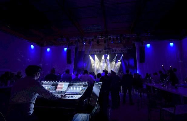 Veranstaltungstechnik und vieles mehr für das Grand Opening übernahm PINK Event Service aus Karlsruhe und Frankfurt