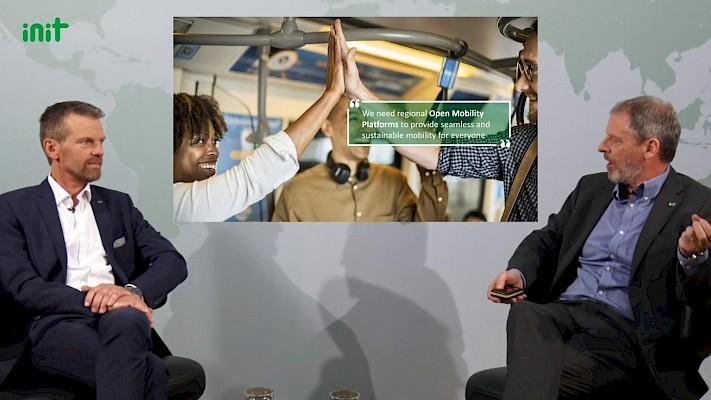 Virtuelle Tagung mit Diskussionrunde - Digitalevents und Onlinekonferenzen mit Eventagentur und Veranstaltungstechnik-Dienstleister PINK Event Service aus Karlsruhe und Frankfurt - Bild: Init Gruppe