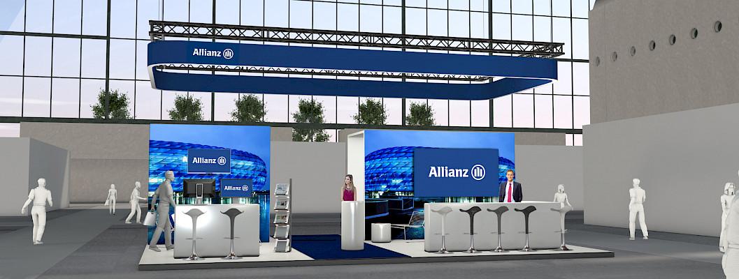 Allianz Messestand