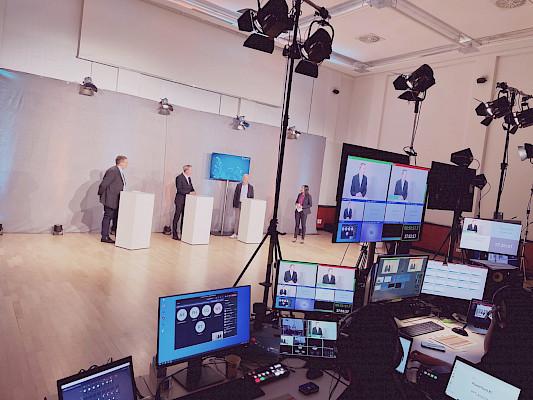 Regie für den Live-Stream des Energiegkongress 2021 aus dem Konzerthaus in Karlsruhe