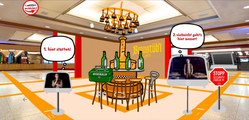 Die Badesalz Backstage-Safari hier in der Lobby der Jahrhunderthalle in Franklfurt