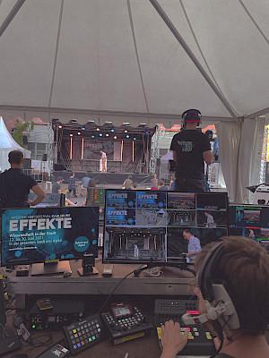 EFFEKTE Festival in Karlsruhe - Regie der Hauptbühne auf dem Kronenplatz